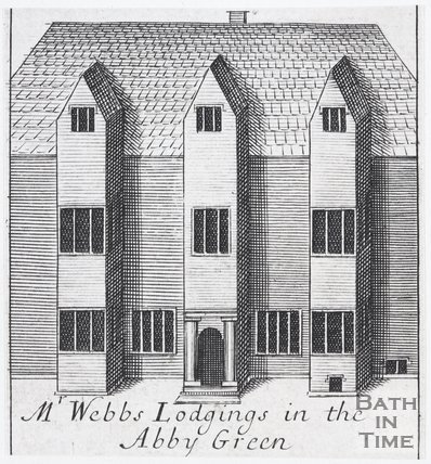 Mr Webbs Lodgings in the Abbey Green, Bath, 1694