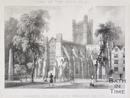Abbey Church and Orange Grove, Bath, 1830