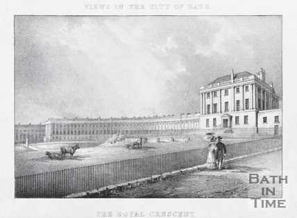 The Royal Crescent, Bath, 1828
