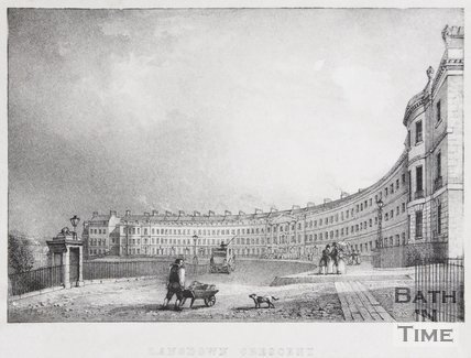 Lansdown Crescent, Bath, 1828