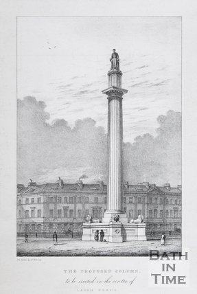 The Proposed Column, to be erected in the centre of Laura Place, Bath, c.1832