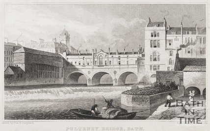 Pulteney Bridge, Bath, 1829