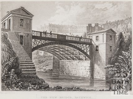 Cleveland Bridge, The New Bridge, Bathwick, Bath, 1829