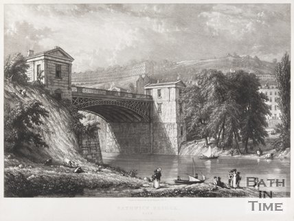 Bathwick Bridge, Bath, 1830