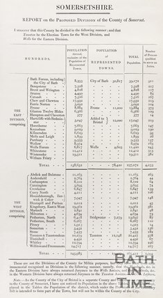 A report in the Proposed Divisions of the County of Somersetshire, 1831