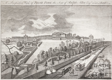Prior Park, the Seat of Ralph Allen Esq. near Bath, 1750