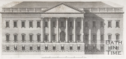 The Elevation, to the North Of Mr. Allen's House, in the Widcombe of Camalodunum, near Bath: with the Windows Dressed according to the Original Design, 1749