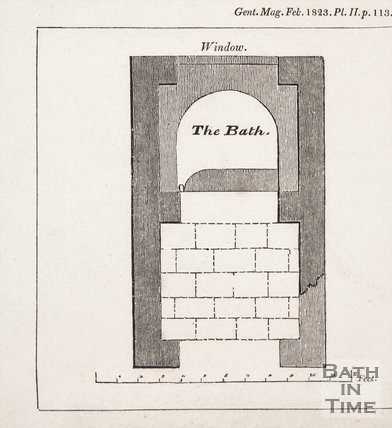 A plan of the Roman Bath found at Farley, Wiltshire, 1823