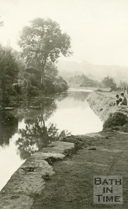 The Kennet & Avon canal between Bathampton and Widcombe, c.1914