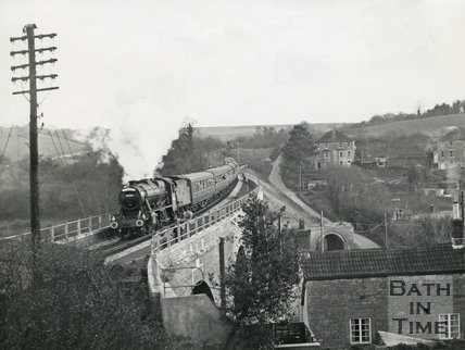 The final journey of the Somerset & Dorset railway at Midford, 5 May 1966