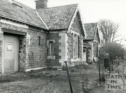 The derelict Weston Station, Bath, 1981
