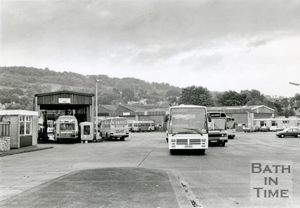 The old Kensington Bus Depot, London Road, Bath, c.1992
