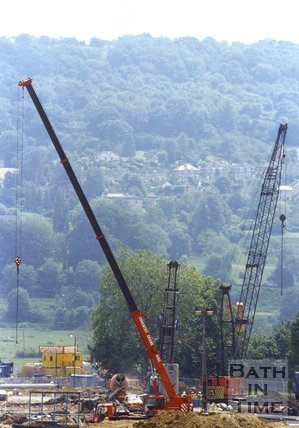 Building the Swainswick Batheaston Bypass, Bath, 1995