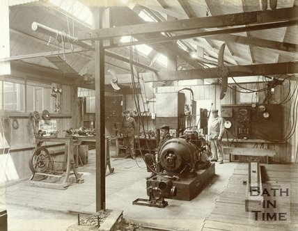 Inside the workshop of Patrick Alexander, The Mount, Batheaston, c.1902