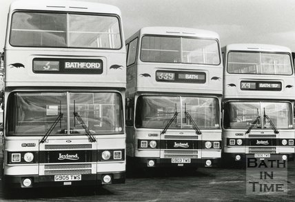Badgerline Buses showing computerised route numbers, September 1989