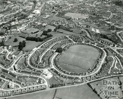 1965 Aerial view of Haycombe Drive, Southdown. Bath, 7 August