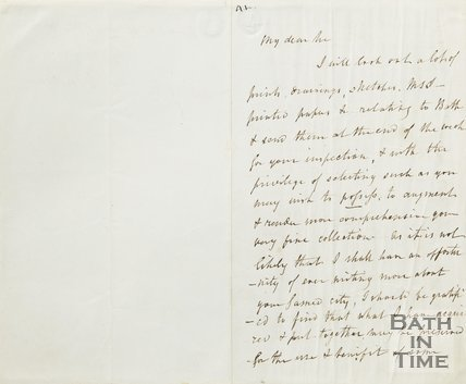 Letter from J Britton to Hunt October 25th 1852