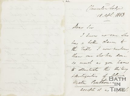 Letter from Hunt to Rev. Kilvert 18th April 1853