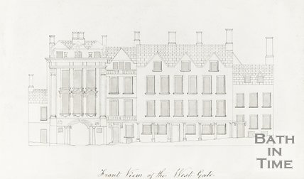 Ink Drawing of Front View of the West Gate 1850