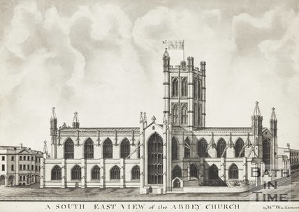 Watercolour of The South East View of the Abbey