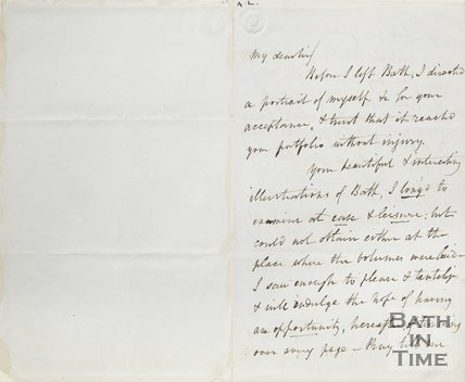 Letter from J Britton to Hunt August 9th 1852