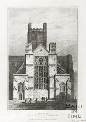 Engraving East End of the Abbey Church Bath August 1824