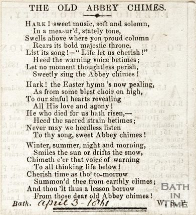 Old Abbey Chimes April 3rd 1841