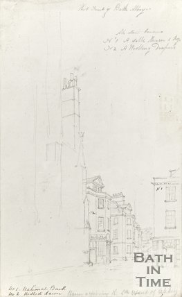 Pencil Sketch of West Front of Bath Abbey