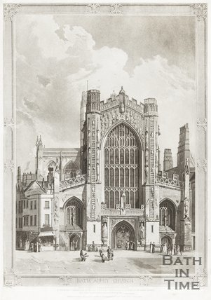 Engraving Bath Abbey Church March 1st 1822