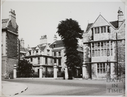 Part of rebuilt facade, Abbey Church House, 24 & 25, Westgate Buildings, Bath c.1955
