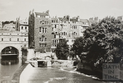 Pulteney weir, Bath c.1950