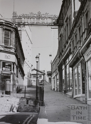 Evans & Owen shop sign, Bartlett Street, Bath 1975 by 12890 at Bath ...