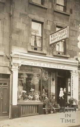 Trimby's flower shop, 29, Charles Street, Bath c.1920