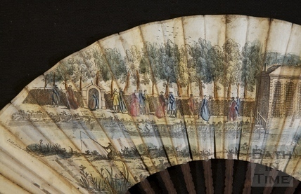 Fan view of Harrison's Walk, Bath c.1737 - detail