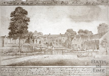A view of a house in Twerton near the brass mills, Bath 1780