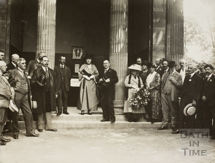 Mayoress Madame Sarah Grand and Mayor Cedric Chivers at a Ceremony at the Pavilion, Sydney Gardens, Bath 1920s