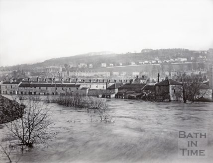 Dolemeads from Widcombe Bridge, Bath 1894