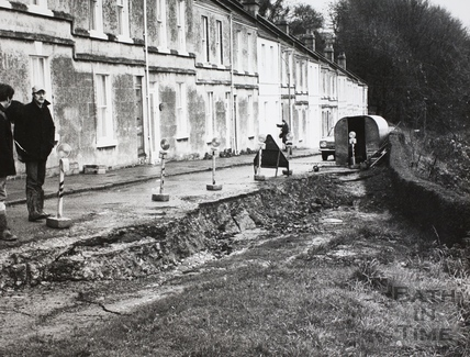 Landslip at Perfect View, Bath 1972