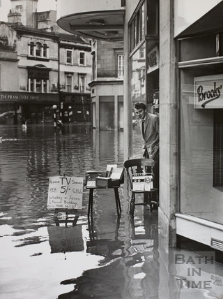 Flood sale, 1, Forum Buildings, Bath 1960