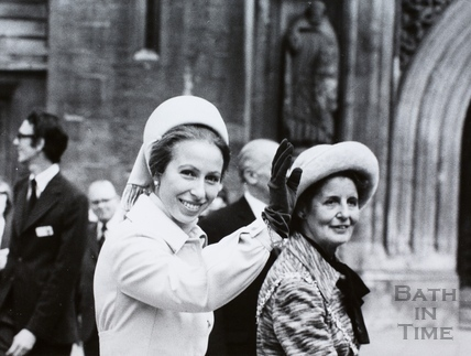 Visit of Princess Anne to Bath 1975