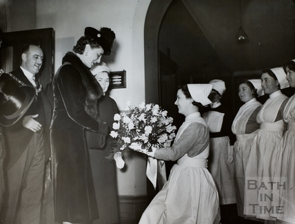 Visit of Princess Marina, Duchess of Kent to Bath 1938