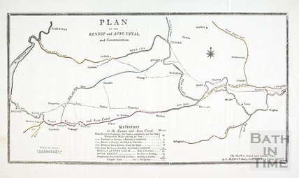 Plan of the Kennet and Avon Canal and Communications 1803