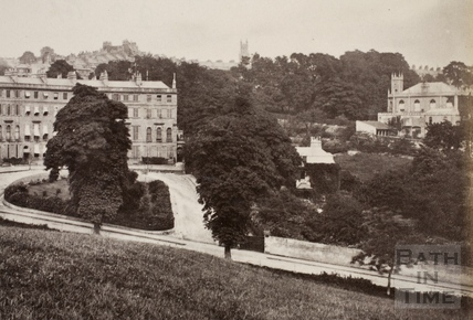 Cavendish Crescent, Bath 1876 - detail