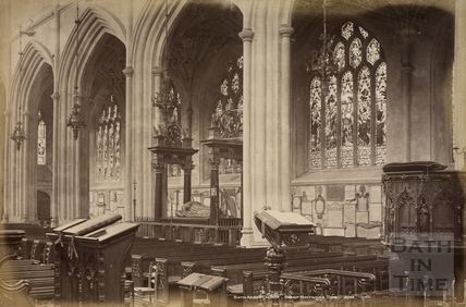 Bath Abbey Church. Bishop Montague's Tomb, Bath c.1890