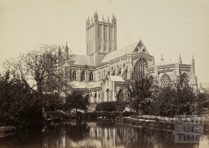 Wells Cathedral from Palace garden, Wells c.1870-1890