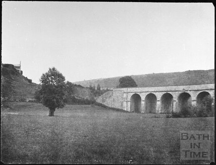 Limpley Stoke Viaduct near Monkton Combe 1861