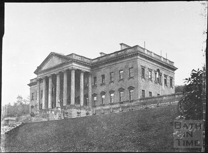 Prior Park mansion from west below terrace, Bath 1856
