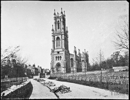 St. Stephen's Church from St. Stephen's Road, Lansdown, Bath 1853