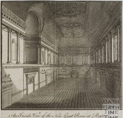 An inside view of the new Great Room at Bath c.1771