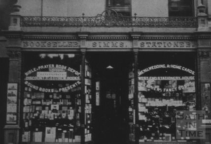 S. Simms, bookseller and stationer, 12, George Street, Bath
